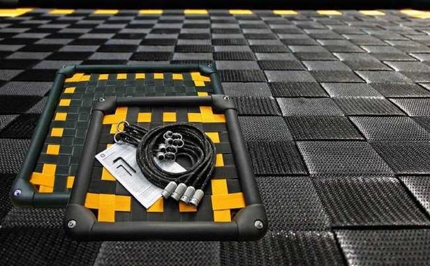 Multikids Schommelplatform | Rechthoekig 125 Zwart