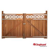 Elephant | Belmonte poort met trellis dubbel | 300x180 cm