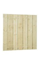 Scherm Douglas Fijnbezaagd | Brede plank | 180 x 180 cm | Geimpregneerd
