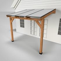 Westwood | Douglas terrasoverkapping | Comfort + | Opaal | 306x250 | Muuraanbouw
