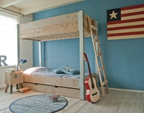 DutchWood   Stapelbed Staal