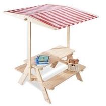 Kinderpicknicktafel | Nicki met dakje