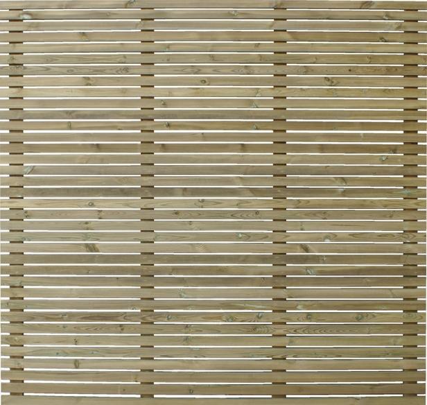Exterior Living | Extra lat | Venice tuinscherm | 28 x 56 mm | 180 cm