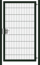 Hillfence | Premium enkele poort | 180cm | Diepzwart RAL9005
