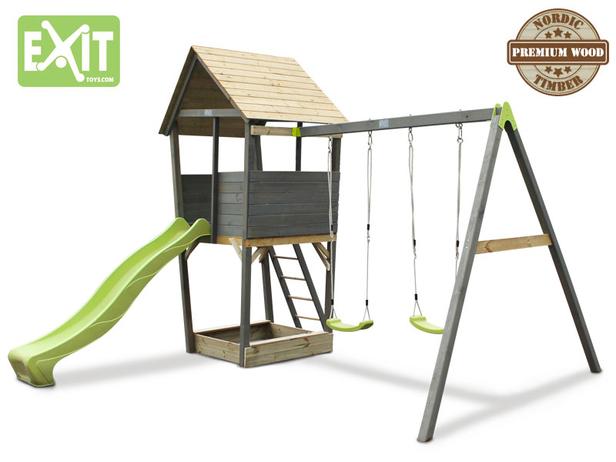 Exit | Aksent Speeltoren met aanbouwschommel (2 zitjes)