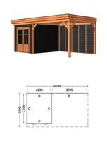 Trendhout   Buitenverblijf Casa L 6100 mm   Combinatie 6
