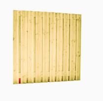Scherm Douglas Geschaafd | 21-planks | 180 x 180 cm | groen geimpregneerd