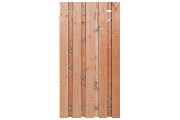 Carpgarant   Douglas poort   Universeel   op stalen frame fijnbezaagd   100 x 195cm