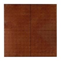 Rubbertegel | 100 x 100 x 2,5 cm | Rood