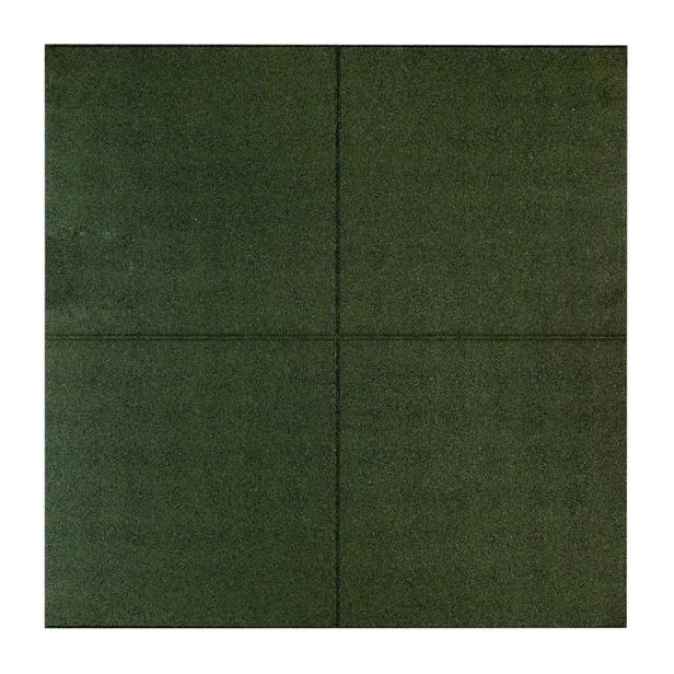 Rubbertegel | 100 x 100 x 2,5 cm | Groen
