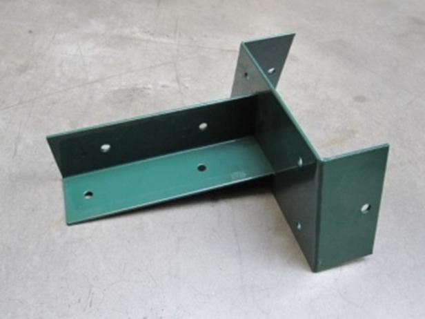 Hoekverbinding voor paal   90 mm    Groen