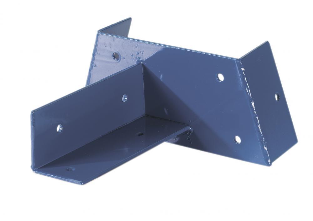 Hoekverbinding voor paal 90x90 | Blauw