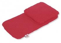 Poppenwagen bedding | Rood gestippeld