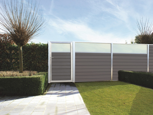 Exterior living   Tuinpoort Curtis 100x180   Glas   Smalle plank
