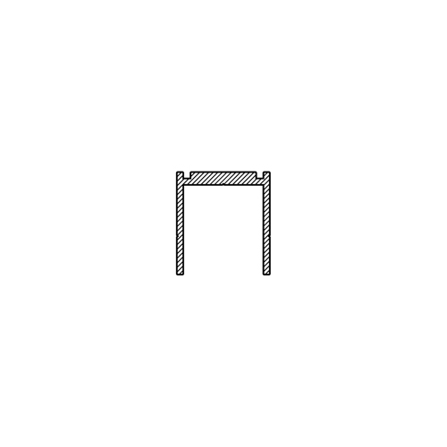 IdeAL | Zilver Aluminium U-lijst 200 cm
