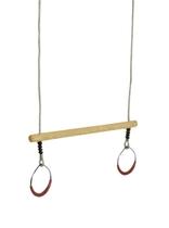 KBT | Trapeze hout met metalen ringen