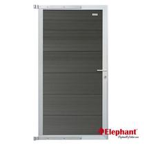 Elephant | Tuindeur Forte | 90x180 cm | Antraciet/aluminium