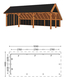 Trendhout | Kapschuur De Hoeve XL 12.17m Combinatie 2