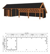 Trendhout | Kapschuur De Hoeve XL 12.17m | Combinatie 3