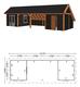Trendhout | Kapschuur De Hoeve XL 12.17m Combinatie 5