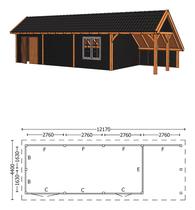 Trendhout | Kapschuur De Hoeve XL 12.17m Combinatie 6