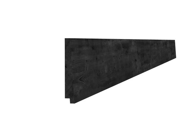 Zweeds Rabat Douglas | 195 mm | Zwart geimpregneerd 500cm