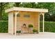 Woodvision | Veranda Grasshopper 200 met wanden | Groen geïmpregneerd