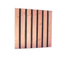 Douglas plankenscherm Zwart | 180x180 cm