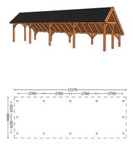 Trendhout | Kapschuur De Hoeve XL 12.17m | Combinatie 1