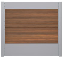 IdeAL | Scherm Zilver- Horizon Ipé | 180x180 | 9 planks