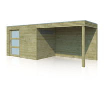 Gardenas | Tuinhuis met luifel QBS | 600 x 210 cm