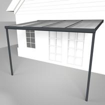Deponti | Aluminium Terrasoverkapping Nebbiolo 404.5x250 | Antraciet