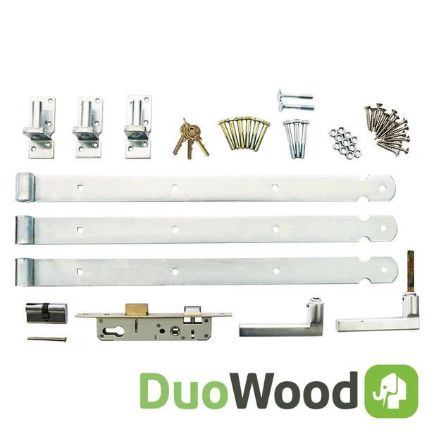 DuoWood | Beslagset tbv DuoWood tuindeur