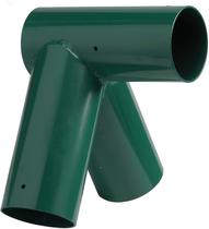 KBT | Hoekverbinding 'recht' rond | 120/100 mm | groen