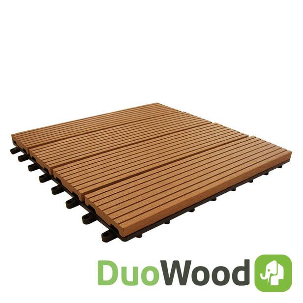 DuoWood | Easy-click tuintegel 30x30 | Havanna | 4 stuks