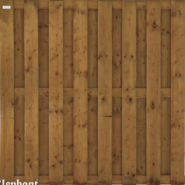 Elephant | Timber Vuren Tuinscherm | Bruin