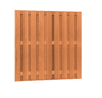 Hardhouten plankenscherm | 180x180cm | 19-planks