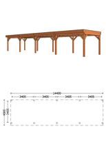 Trendhout | Buitenverblijf Refter XL 14400 mm | Combinatie 1