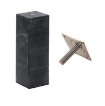 Betonpoer recht | 20 x 20 cm voor paal 19-20 cm | Inclusief stelplaat