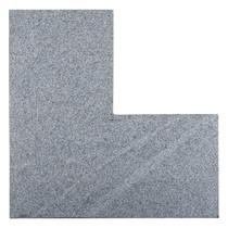 Gardenlux | Graniet Vijverrandhoek Geborsteld 50/50x25x3 | Dark Grey Flamed