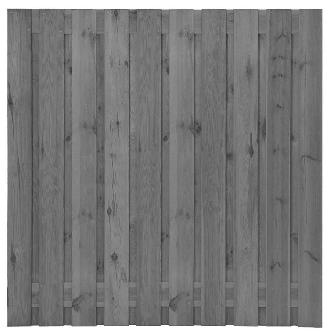 Grenen plankenscherm   21-planks   180 x 180 cm   Grijs gespoten