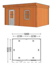 Trendhout | Buitenverblijf Mensa L 5000 mm | Combinatie 6