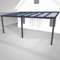 Deponti | Aluminium Terrasoverkapping Pigato 706x400 | Antraciet