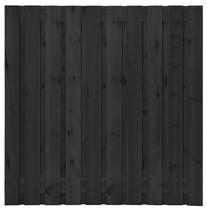 Grenen plankenscherm | 19-planks | 180 x 180 cm | Zwart