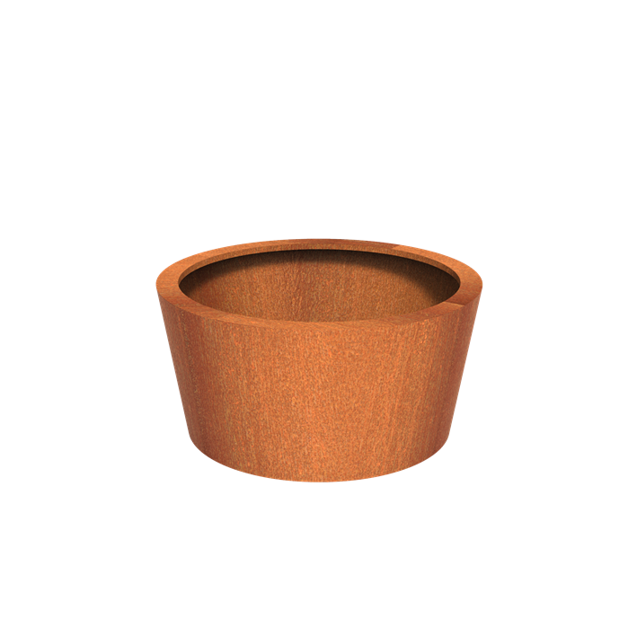 Adezz | Cortenstalen plantenbak Cado | Ø120 x 60 cm