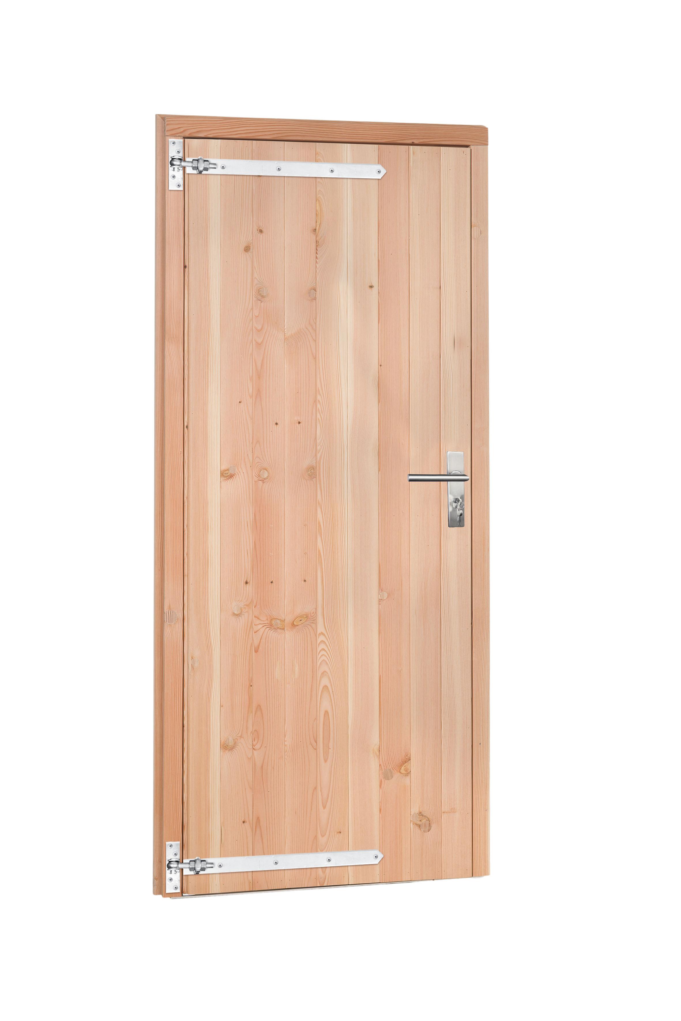 Woodvision | Douglas enkele deur | Dicht | Groen geïmpregneerd | Rechtsdraaiend
