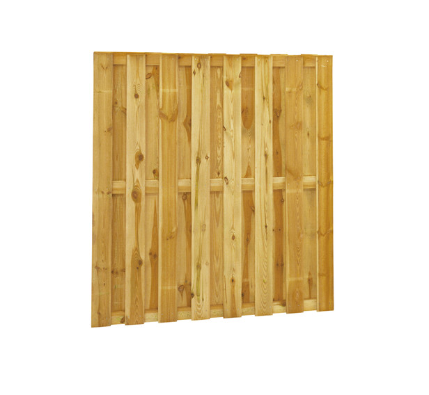 Grenen plankenscherm | 15-planks | 15 mm | 180 x 180 cm
