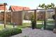 CarpGarant | 2043 | Draadscherm in kader hardhout | 180 x 45 cm