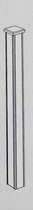Gardival | Paal met hardhouten bekleding | 210x15x15 cm