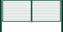 Hillfence | Eco dubbele poort | 180cm | Dennengroen RAL6009